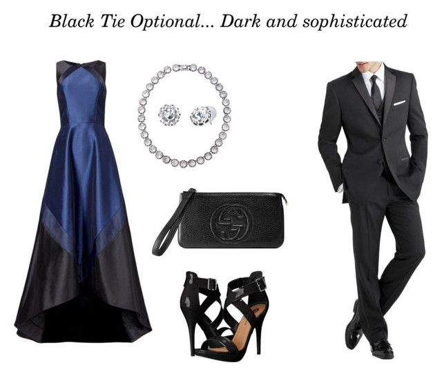"""""""Black tie optional"""" by hello-183 on Polyvore featuring Theia, Michael Antonio, Gucci, Stella & Dot and International"""