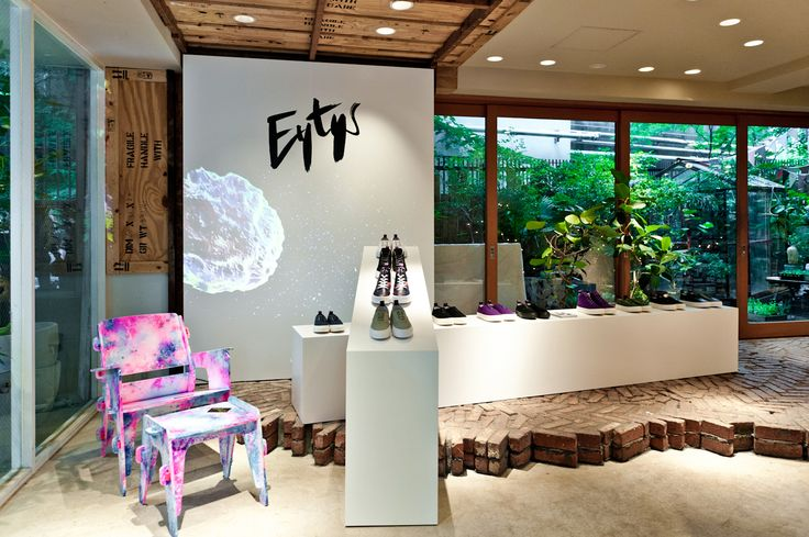 #Eytys installation at Biotop in Tokyo. Artworks by Tom Sewell.