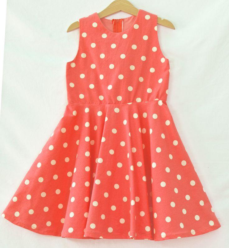 Twirl dress, circle skirt dress, full circle skirt, handmade dress, summer dress, girls clothes, everyday dress, girls Sundress, Party Dress by CrafterMama on Etsy