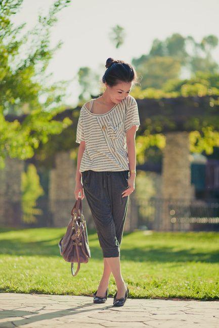 Top :: Armani Exchange  Bottom :: Bebe  Shoes :: Chanel flats  Bag :: Chloe Paraty Old Pink  bag  Accessories :: Kohl's bracelet, vintage leaf ring, and  Topshop locket necklace
