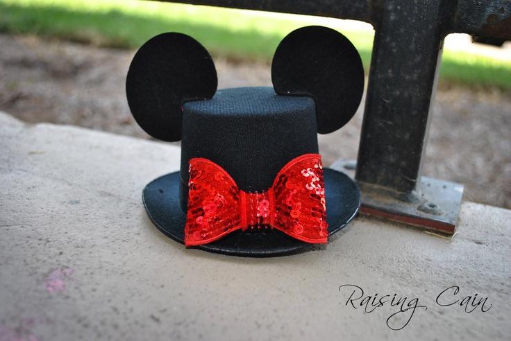 Mickey Mouse Inspired Mini Top Hat Boys Disney Sequin Bow Tie Felt Ears Costume Birthday Photo Prop Halloween. $24.50, via Etsy.