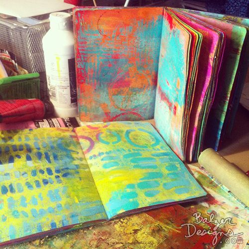 Balzer Designs - BEST OF 2014: PAPERCRAFTING PROJECTS - Why I love it: How can you not love Gelli Printed journals? I love the way these books turned out and I love using them!
