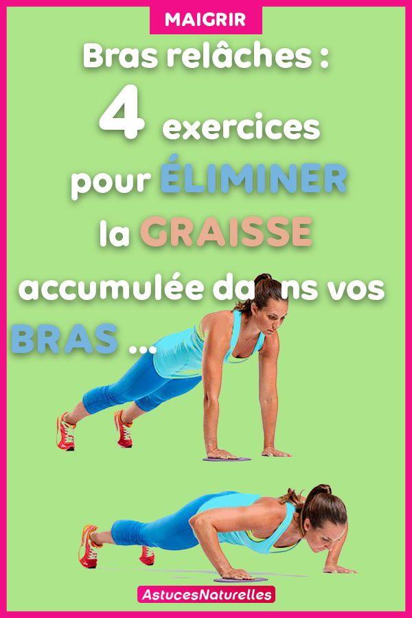 Bras relâches   4 exercices pour éliminer la graisse accumulée dans vos bras...   2d77d5fb771