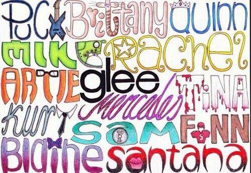 Glee Club Puck, Brittany, Quinn, Mike, Rachel, Artie, Tina, Mercedes, Kurt, Sam, Finn, Blaine, Santana ♡