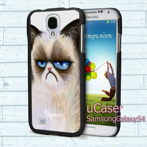 """Angry cat grumpy for Samsung Galaxy S4 5.0"""" screen Black Case"""