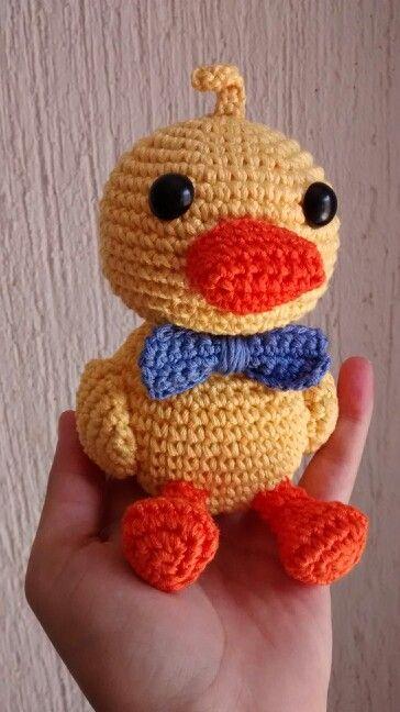 Pato amigurumi