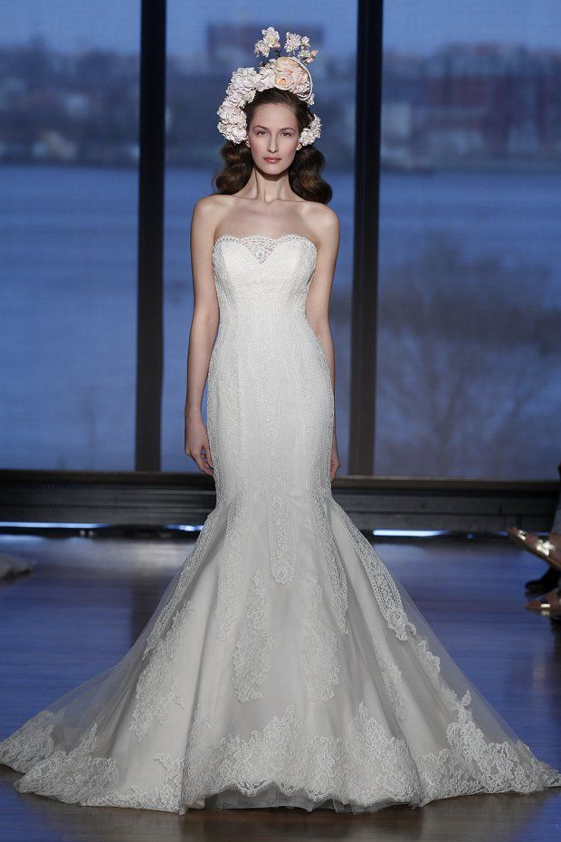51 best Ines di Santo images on Pinterest   Short wedding gowns ...