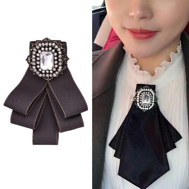 Collar de cristal de oro de la vendimia Blusa Camisa de Mujer Broche de punta con corbata de moño | Joyería y relojes, Joyas de moda, Prendedores y broches | eBay!