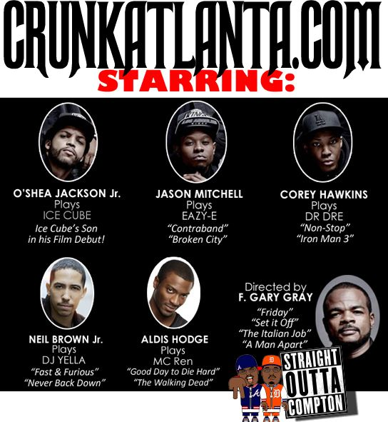 the cast of NWA MOVIE - Official Movie Trailer - Straight Outta Compton- Story of NWA