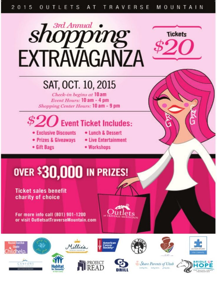 SHOP, SAVE MONEY, AND HELP HABITAT! Buy at ticket today to the Outlets at Traverse Mountain's annual Shopping Extravaganza on October 10th and help Habitat help a family in need! Tickets are $20.00 and include exclusive store discounts, prize entry tickets, lunch and dessert, workshops, and entertainment. To purchase tickets, stop by one of the Utah Valley ReStores or online at http://www.outletsattraversemountain.com/…/shopp…/2145456504 (select Habitat as your favorite charity)…