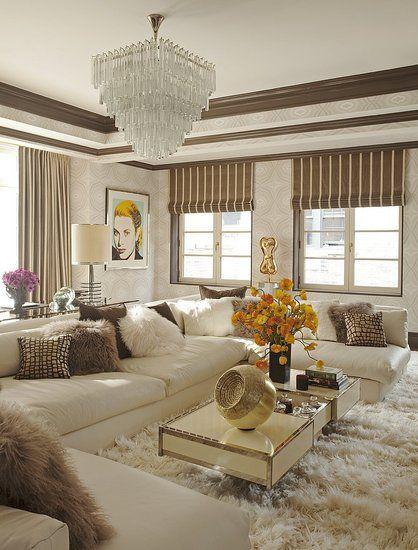 "Tamara Mellon's media room. On Million Dollar Decorators, she described it as ""cozy"", while decorator Martyn Lawrence-Bullard said ""It's a sex den!"""
