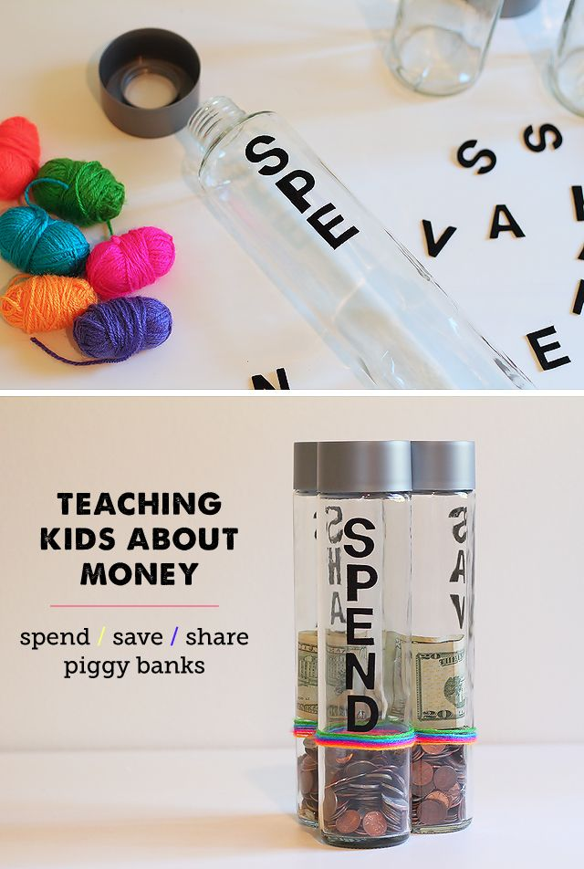 A great project for introducing money concepts to kids - including saving and giving. #kids #money