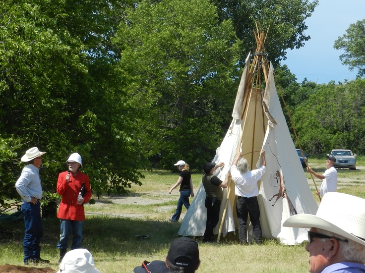 Setting up a teepee at the 2012 Burning Sun Production of The Medicine Line.  http://www.inkwellinspirations.com/2012/08/the-medicine-line-outdoor-show.html