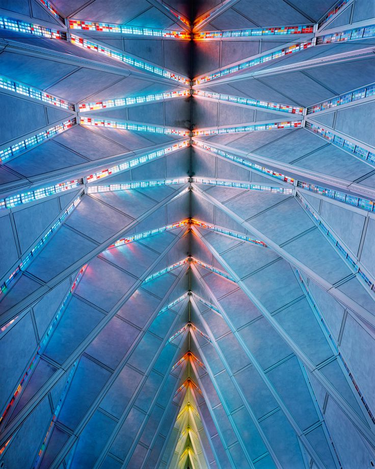 Divine Photos of America's Most Epic Churches   The roof of the United States Air Force Academy Cadet Chapel, Colorado Springs. Architects: Walter Netsch / Skidmore, Owings and Merrill.  Christoph Morlinghaus    WIRED.com