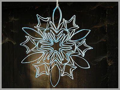 Very cool toilet paper roll snowflake! I have really got to make on of these.