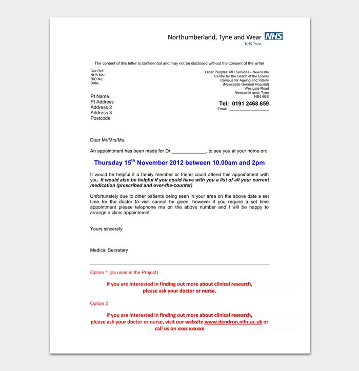 Awesome How To Make A Fake Hospital Appointment Letter And Pics Lettering Appointments Letter Templates