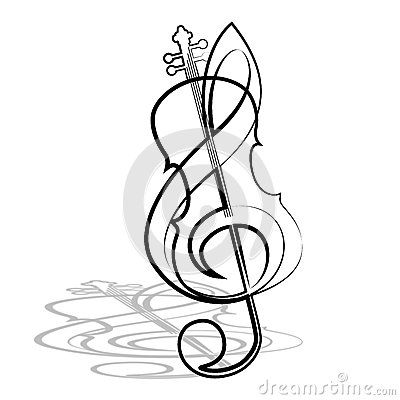 black and white violin and bow graphics - Google Search