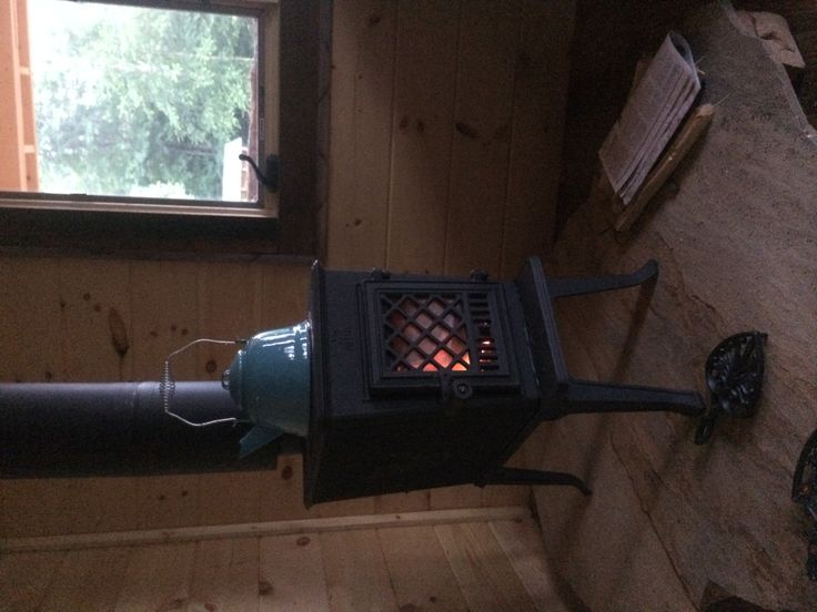Jotul 602 wood-burning stove.  The sole source of heat for our tiny one room cabin.