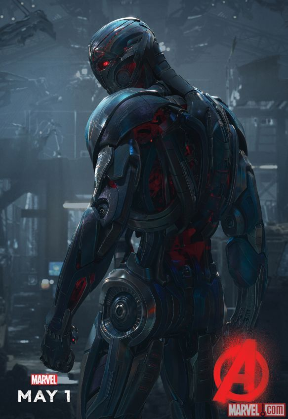 The Age of Ultron is unleashed in a new poster for Marvel's Avengers: Age of Ultron, in theaters May 1