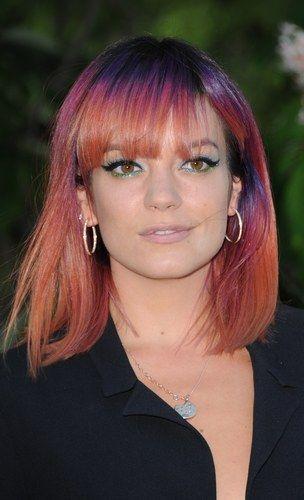 Cabelo colorido - Lily Allen