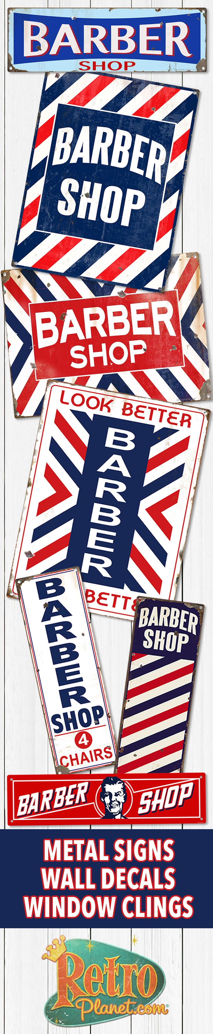 Barber shop pole distressed wall decal vintage style wall decor ebay - Old Style Barber Shop Decor That S Perfect For Your Bathroom Man Cave Or Business From Authentic William Marvy Barber Poles To Reproduction Metal Signs