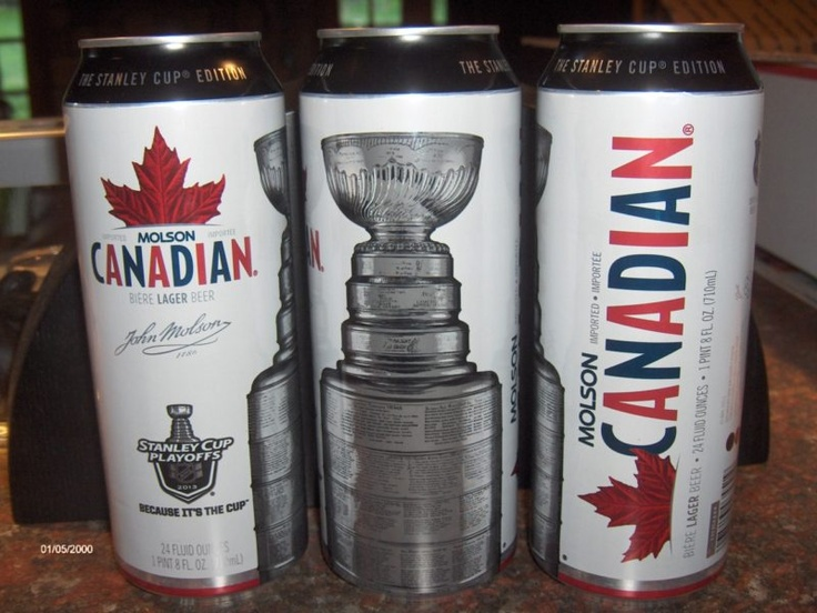 Molson Canadian NHL 24oz Can 2013 Stanley Cup Playoffs