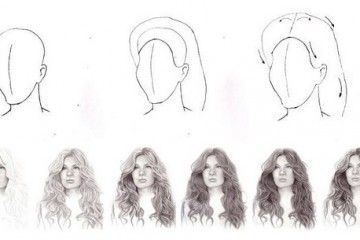 How to draw a hair