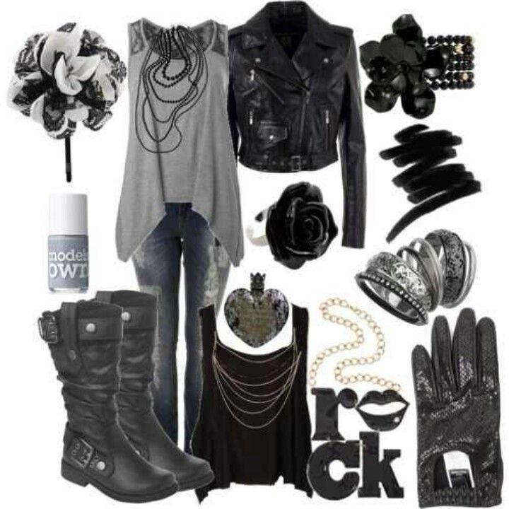 loose tank & leather coat