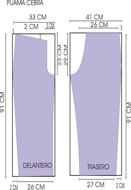 Pantalon pijama molde - Imagui: