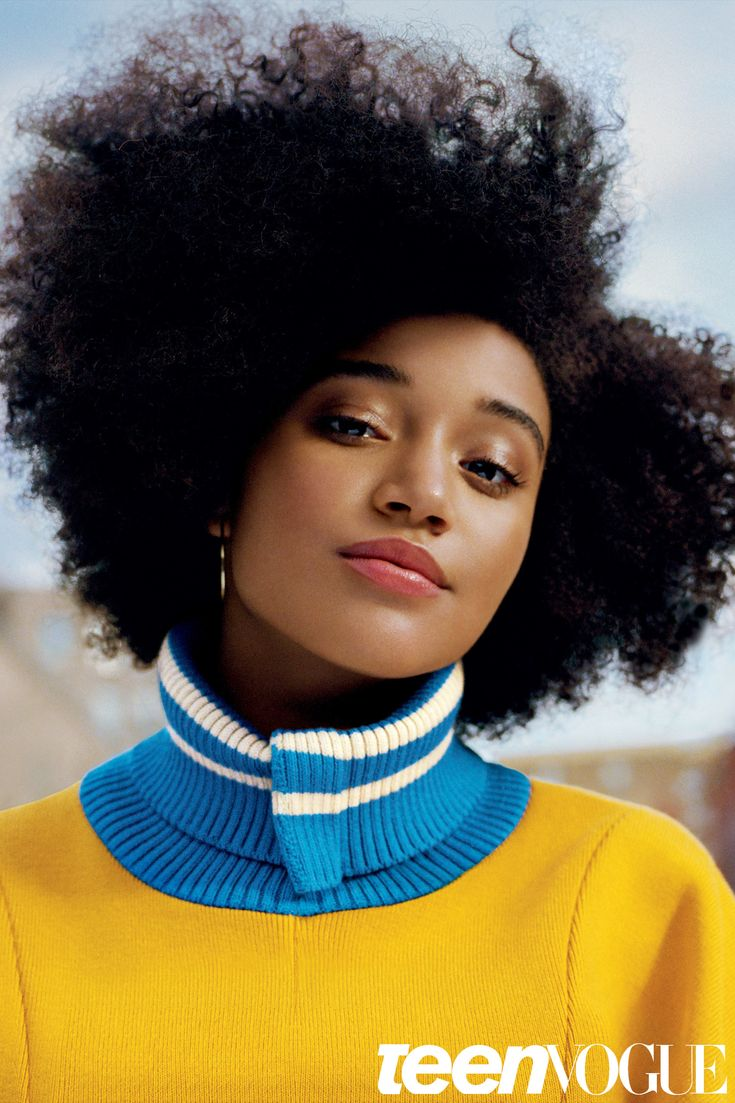 Amandla Stenberg // Teen Vogue // Photographer: Ben Toms // Makeup: Francelle // Stylist: Julia Sarr-Jamois // Hair: Lacy Redway