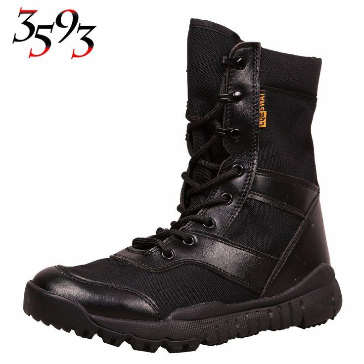 3593 SanNiu Men Black Desert Military Tactical Combat SWAT Boots Man Ultra Light Breathable Comfortable Outdoor Hunting Shoes