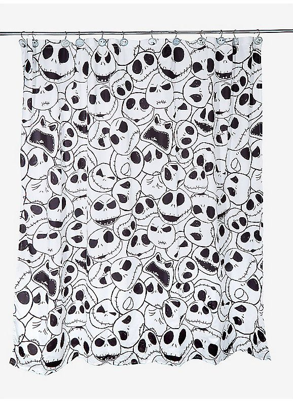 BoxLunch The Nightmare Before Christmas Jack Skellington Shower Curtain