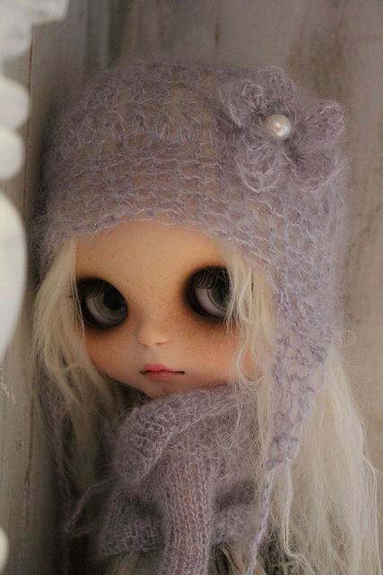 Is it really cold enough to wear this hat ?? by Donna Cooper from Cooperdolls, via Flickr