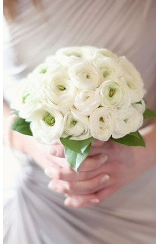 Ranunculus and Hydrangea Bouquet | 13 Stunning One Flower Bridal Bouquets | One Fab Day