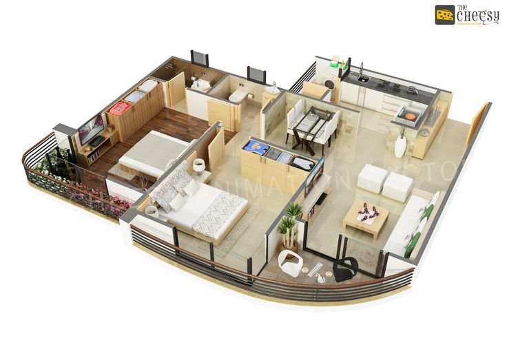 The cheesy animation studio 2d and 3d floor plan rendering for 3d house plan maker