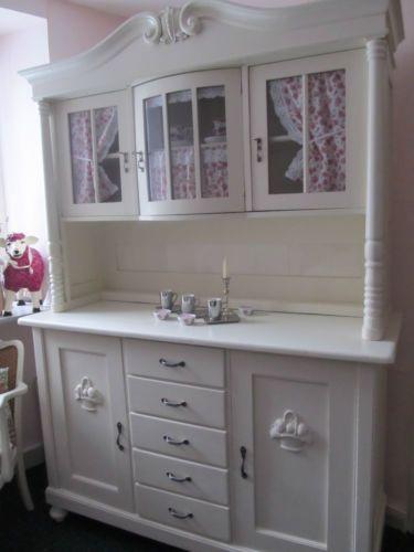 antike wei e k chenschr nke m belideen. Black Bedroom Furniture Sets. Home Design Ideas