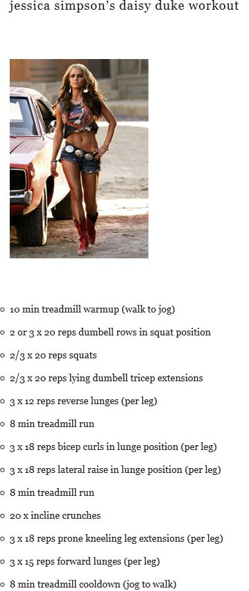Jessica Simpson Workout