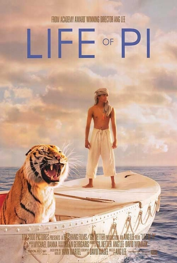 Poster for the movie 'Life of Pi'. A simply spectacular film and so enormously heart rending!!