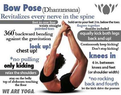 Bikram yoga 19th pose: Bow Pose-Dhanurasana