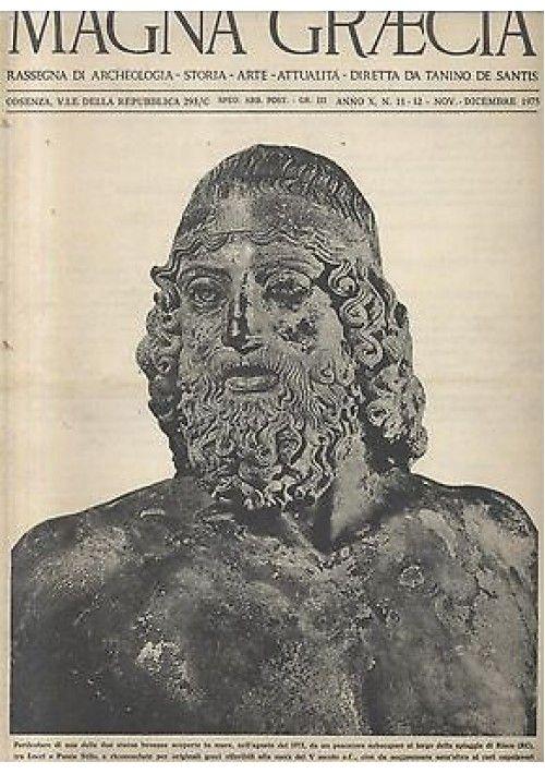 MAGNA GRAECIA rassegna archeologia 8 numeri 1974 1976 Grecia Cosenza De Santis