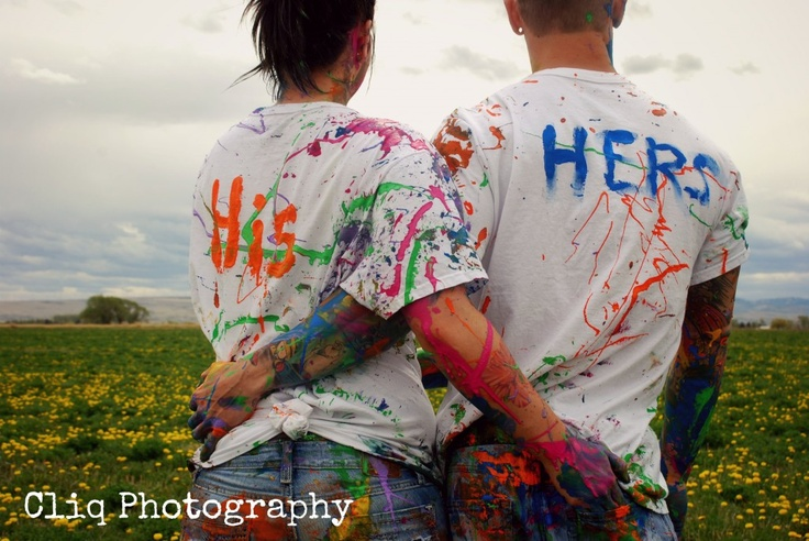 paint fight - i so want to do this with my honey