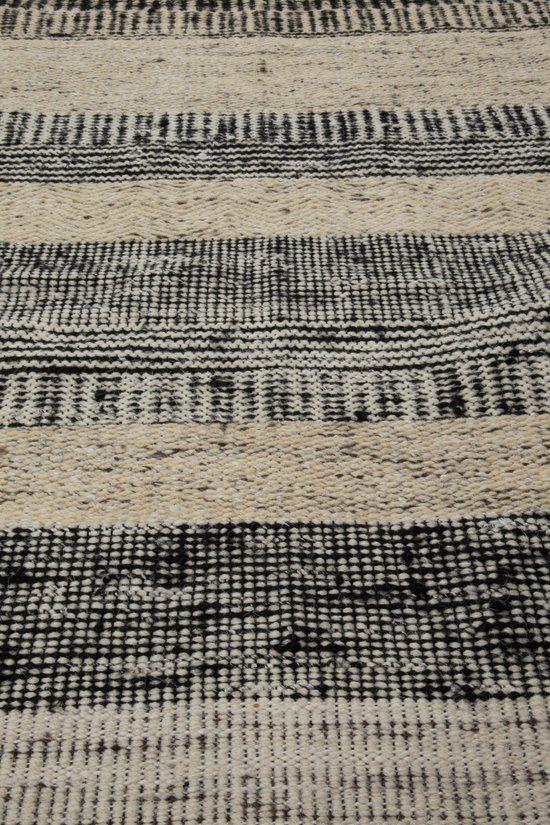Zuiver Fox - Vloerkleed - Wit/Zwart - 80x200 cm