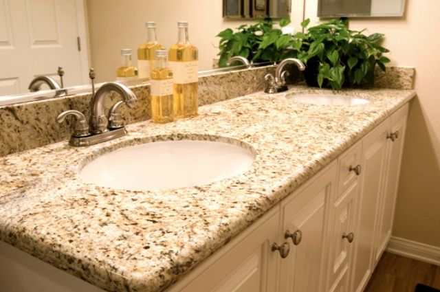 Giallo Ornamental Granite Vanity Tops