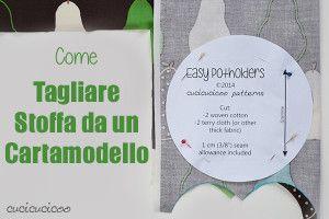 """Come tagliare stoffa da un cartamodello: alcune regole semplici. Parte della serie """"Impara a Cucire a Macchina"""" su www.cucicucicoo.com!"""