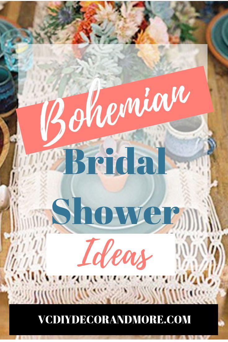 böhmische Brautpartyideen für eine Boho-Chic-Hochzeit   – Bridal Shower Party Ideas