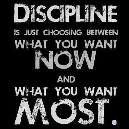 .Do you have the discipline to pursue your dreams?