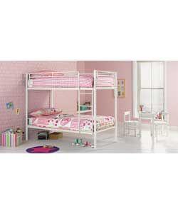 Samuel Shorty Bunk Bed Frame - White.