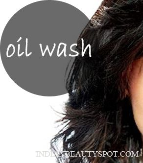 wash your hair with oil