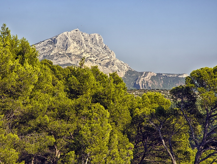 View of Montagne Sainte Victoire from Bibemus Quarries - Painted by Cezanne (see my Visual art Board)