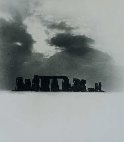Bill Brandt - Stonehenge Under Snow (1947)